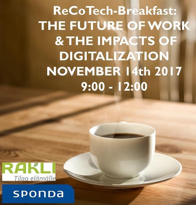 ReCoTech Breakfast Nov 14th 2017
