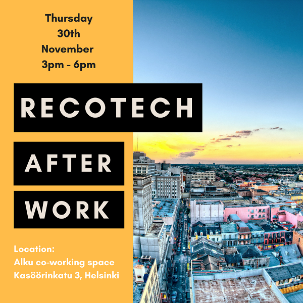 Continue the discussion at ReCoTech Afterworks